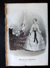 Journal des Demoiselles C1850 Antique Hand Col Fashion Print 108